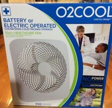 O2Cool 10 Inch Battery/Electric Operated Fan - New  BIGGER SIZE- with AC Adapter
