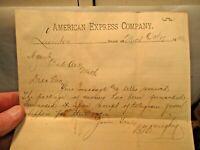 1896 Lewiston to Bad Axe, MI American Express Co Letterhead Letter in good shape