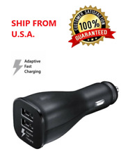 Dual USB Port Car Charger Adapter Fast Charging for iPhone Samsung LG HTC Black