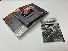 Super Castlevania IV and Manual SNES Authentic Super Nintendo Cartridge