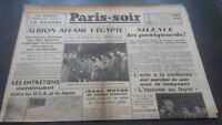 JOURNAUX PARIS-SOIR  N°112 VENDREDI 11 OCTOBRE 1940 ABE