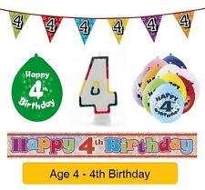 Amscan 22.8 Cm Happy 4th Birthday 10 Latex Balloons