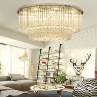 Modern Crystal LED Crystal Ceiling lights chandeliers Bilayer Aisle light New
