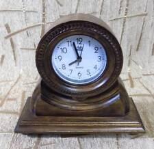 Wooden grandfather clock Hand made and carved Retro design quartz alarm