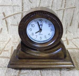 Nice Wooden grandfather clock Handmade carved Retro design quartz alarm