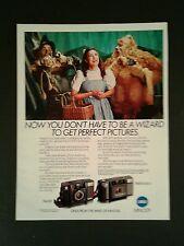 1985 Wizard of Oz Disney~MGM Movie Minolta Freedom II Talker Camera Photo Art AD