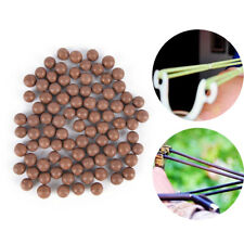 100Pcs Slingshot Beads Bearing Mud Airsoft Ammo Solid Clay Balls Eggs Hunting LE