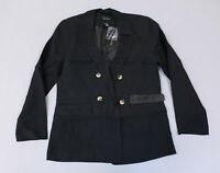New Look Women's Twill Double Breasted Blazer NB7 Black Size US:4 UK:8 NWT