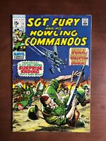 Sgt Fury #71 (1969) 6.0 FN Marvel Key Issue Silver Age Comic Book Stan Lee