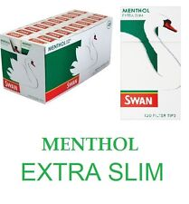 SWAN MENTHOL EXTRA SLIM Cigarette Filter Tips Half Box 10 X 120