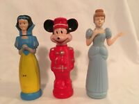 Vintage Soaky Colgate Bottles 1960s Snow White Mickey Mouse Cinderella Set of 3