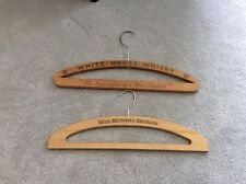 White Horse whisky And Hotel Metropole, Bruxelles Vintage Wooden Coat Hangers
