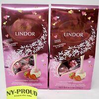 Lindt Lindor Strawberries Cream White Chocolate Truffles (8.5 Oz Each X 2 Pack)