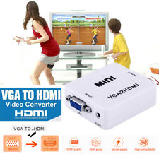 VGA to HDMI Video Audio Converter Cables Box Adapter for PC Laptop TV DVD HDTV
