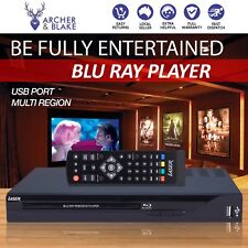 Multi Region Free Blu-Ray DVD CD Media Player HDMI USB Full HD 1080 w Remote