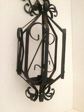 Metal Birdcage Candle Lantern Wall Mount Black Lot A