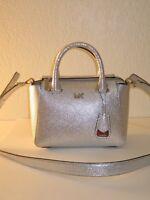 MICHAEL Michael Kors Silver Leather Nolita Messenger Bag $298
