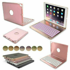"""For iPad 7th Generation 10.2"""" 2019 Smart Case Cover Backlit Aluminum Keyboard US"""