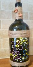 Fairy Lights And Hand Painted Recycled Wine Bottle Gift..G.G.ORIGINALS