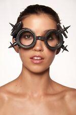 Black Aviator Biker Rocker Steam Punk Victorian Goggles Cosplay Costume Unisex