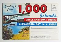 Ephemera 1,000 Islands Alexandria Bay NY USA 13 Color Photos Souvenir Folder