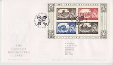GB ROYAL MAIL FDC 2005 THE CASTLES DEFINITIVES MINIATURE SHEET M/S WINDSOR PMK