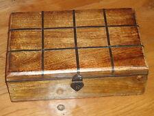 Boîte en bois avec fermoir / mer poitrine style / marine nautique / bois / boîte à thé / SM 265