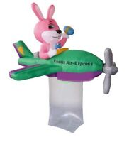 EASTER BUNNY AIRPLANE PLANE AIRBLOWN INFLATABLE YARD DECORATION 6.5 FT