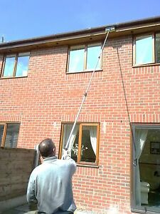 13FT WATER FED WINDOW CLEANING POLE CLEANER EQUIPMENT EXTENSION  BRUSH KIT