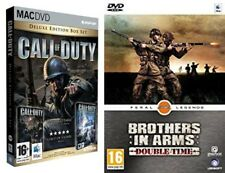 Call of Duty Deluxe Edition utilisé & Brothers in Arms double time New & Sealed MAC