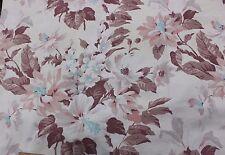 Pretty Vintage Barkcloth Era Shabby Faded Tropical Home Dec Fabric c1940s