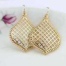 New Fashion Cutout Filigree Rose Gold Teardrop Drop Earrings for Women Jewelry