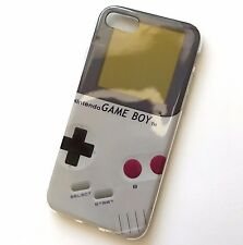 For iPhone 7 & iPhone 8 - Hard TPU Rubber Gummy  Case Cover Gray Gameboy Player