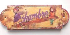 ref. 603  - PLAQUE DE PORTE orval  CHAMBRE - fillettes