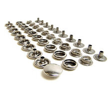 Stainless Steel Boat Canvas Snaps Cap / Socket / Stud / Eyelet 10 Pc. Set