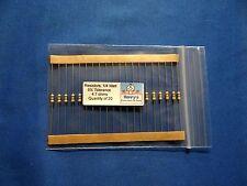 Resistors, carbon film, 1/4 watt, 5%, axial leaded, 4.7 Ohm - QTY of 20