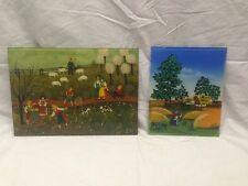 Lot of 2 -  Reverse Painting On Glass - Renate Koblinger - Drobar & J. Bucour