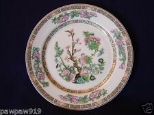 """SYRACUSE CHINA O.P.CO POTTERY GLASS 8"""" SALAD PLATE VINTAGE INDIAN TREE PINK"""