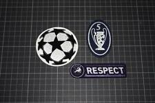UEFA CHAMPIONS LEAGUE and 5 TIMES CHAMPIONS and RESPECT BADGES 2009-2011