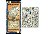 carte MICHELIN   no  61  PARIS CHAUMONT 1932