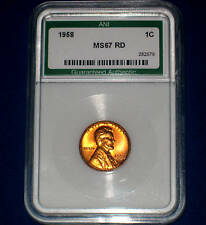 1958-P LINCOLN WHEATBACK GEM++ UNCIRCULATED RED PENNY- HIGH QUALITY++ COIN SLAB