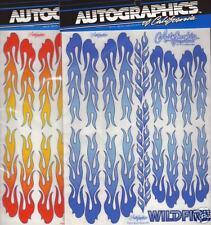 AutoGraphics #806 Wildfire RED (NO BLUE) flames 1/10 scale decal