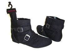 """Material Girl """"Msaber Bk394"""" Black Women's Ankle Booties Boots Shoes Us Size 7"""