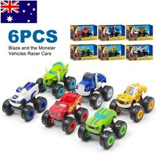 6Pcs Kid Blaze and the Monster Vehicles Racer Cars Trucks Diecast Toys Machines