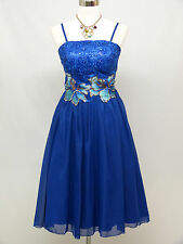 Cherlone Blue Prom Cocktail Ball Evening Wedding Knee Length Bridesmaid Dress 12
