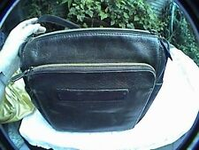vintage old school fossil 75082 handbag purse shoulder bag black leather key