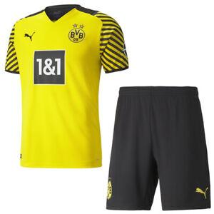 Puma BVB Borussia Dortmund Heimset 2021 2022 Home Kit Trikot Shorts Herren
