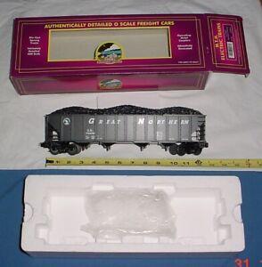 MTH Premier Great Northern 4-bay open Hopper & Coal. 20-90021a train O Scale