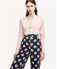 NWT Ann Taylor Hi-Lo Cotton Cardigan Sweater L Tall  $79.50  Pink