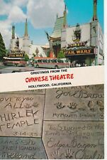 CHINESE THEATRE PREMIER OF STAR WARS VINTAGE 1977 POSTCARD ORIGINAL RARE